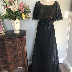 Vintage 1910's Black Gown